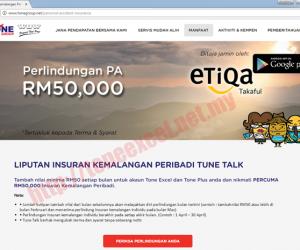 Perlindungan Etiqa Takaful RM50K?